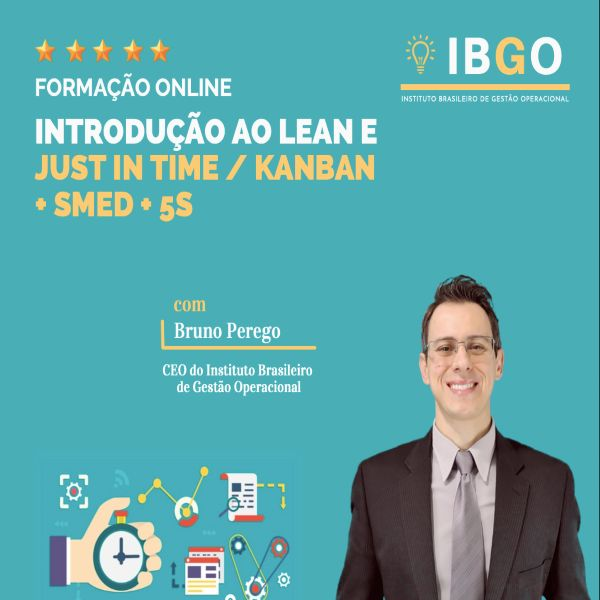 Imagem principal do produto INTRODUÇÃO AO LEAN E JUST IN TIME / KANBAN + SMED + IMPLEMENTAÇÃO 5S