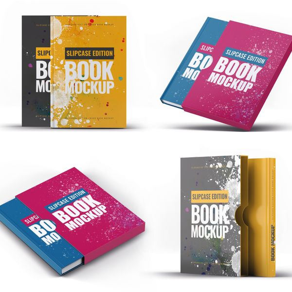 Imagem principal do produto Capa e-Book Magnético - Kit 4 Book Cover Mockups #10 - PSD 100% Editável