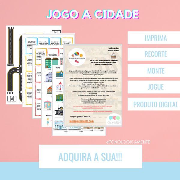 Imagem principal do produto JOGO A CIDADE