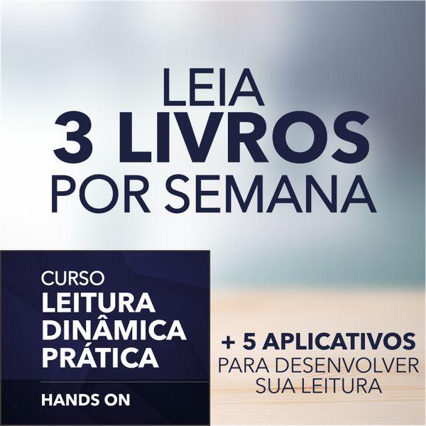 Imagem principal do produto Leitura Dinâmica Prática Hands On - Leia 3 livros por semana.