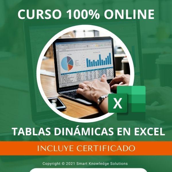 Imagem principal do produto Curso completo 100% Online de Tablas Dinámicas en Excel incluye libro y certificado