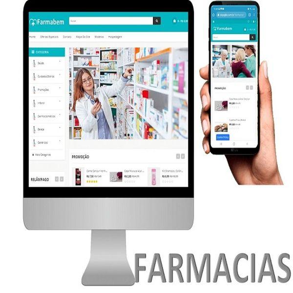 Imagem principal do produto APLICATIVO PARA FARMÁCIAS E DROGARIAS PREMIUM GRÁTIS SITE