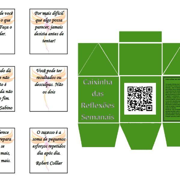 Imagem principal do produto Caixinha das Reflexões Semanais