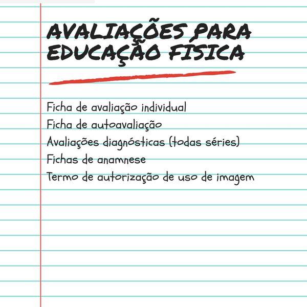 Imagem principal do produto Avaliações para educação física escolar