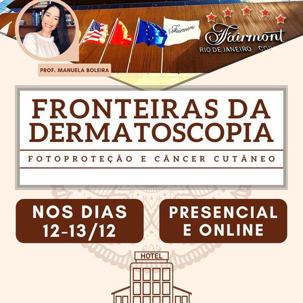 Imagem principal do produto Fronteiras da Dermatoscopia evento presencial