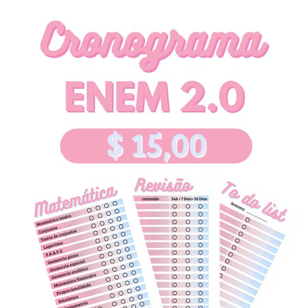 Imagem principal do produto Cronograma ENEM 2.0