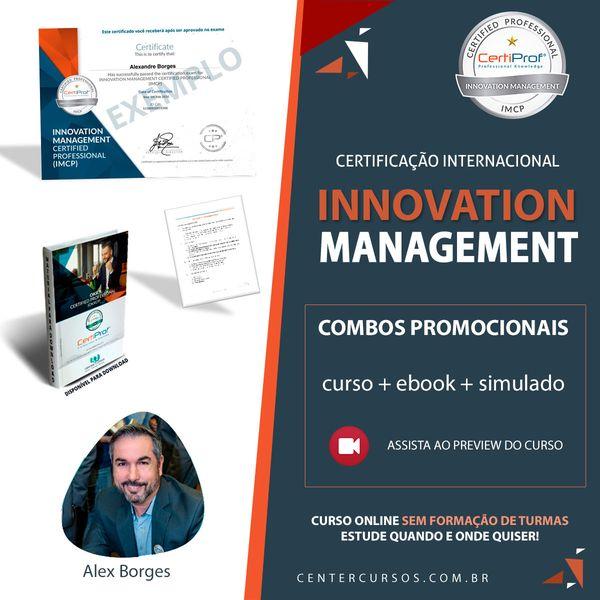 Imagem principal do produto GESTÃO DA INOVAÇÃO (INNOVATION MANAGEMENT) curso oficial CertiProf