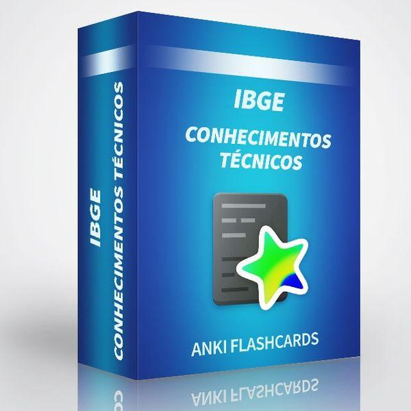 Imagem principal do produto Conhecimentos Técnicos para o Concurso do IBGE   Cartões do Anki