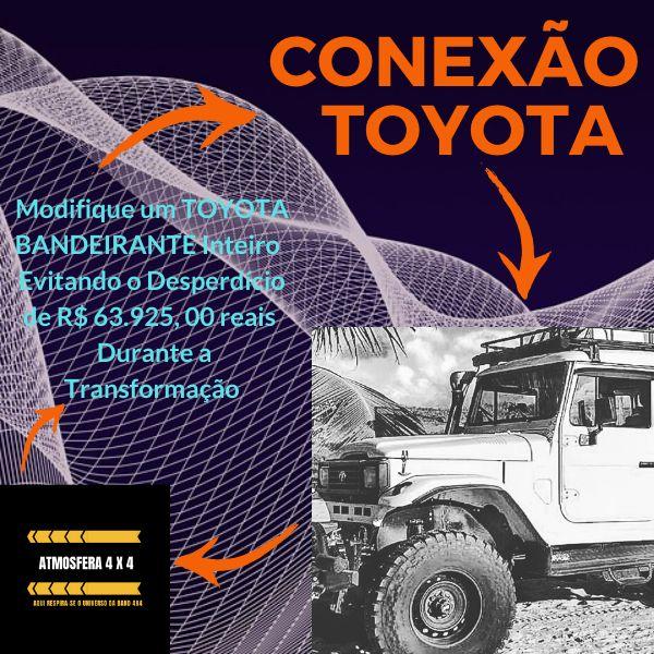 Imagem principal do produto CONEXÃO TOYOTA - MODIFIQUE UM TOYOTA BANDEIRANTE INTEIRO EVITANDO O DESPERDÍCIO DE R$ 63.925,00 REAIS DURANTE A TRANSFORMAÇÃO