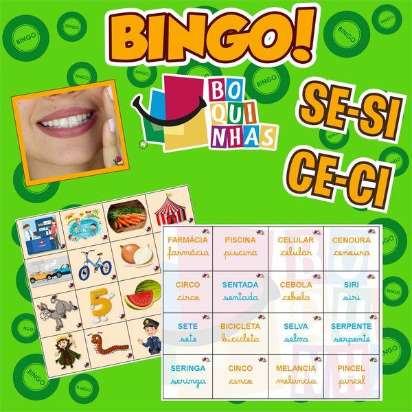 Imagem principal do produto BINGO DE SE-SI - CE-CI - Fixação ortográfica