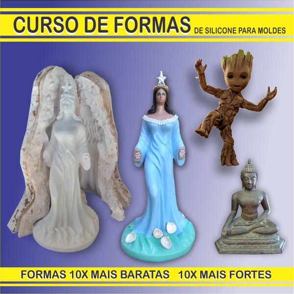 Imagem principal do produto CURSO FORMAS DE SILICONE MOLDES fabrica de estatuas de gesso moldes de silicone formas