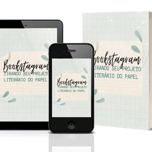 """Imagem principal do produto E-book """"Bookstagram: tirando seu projeto literário do papel"""""""
