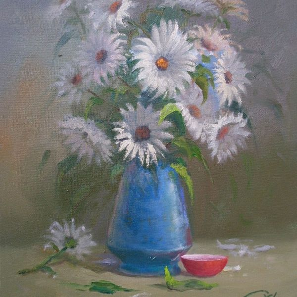 Imagem principal do produto Curso de Pintura de Florais - Óleo Sobre Tela