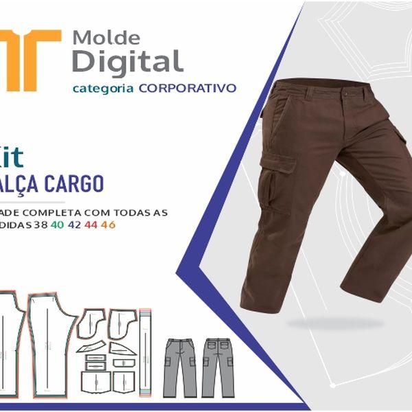 Imagem principal do produto kit molde Digital Calça Cargo