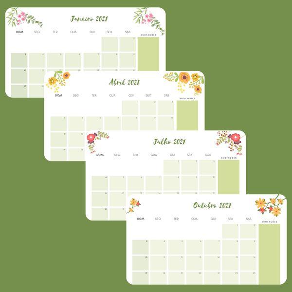 Imagem principal do produto Floral - Planner 2021