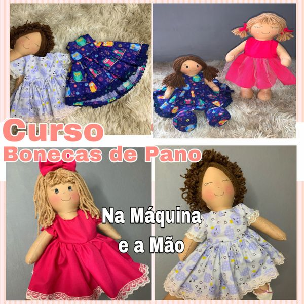 Imagem principal do produto Curso Bonecas de Pano
