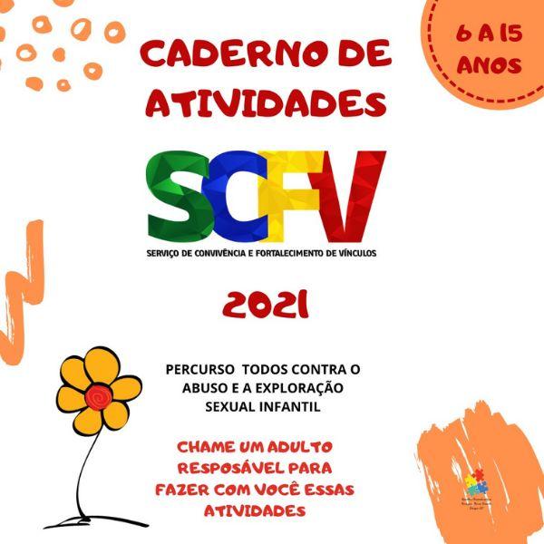 Imagem principal do produto CADERNO DE ATIVIDADES DE 06 A 15 ANOS DO SCFV