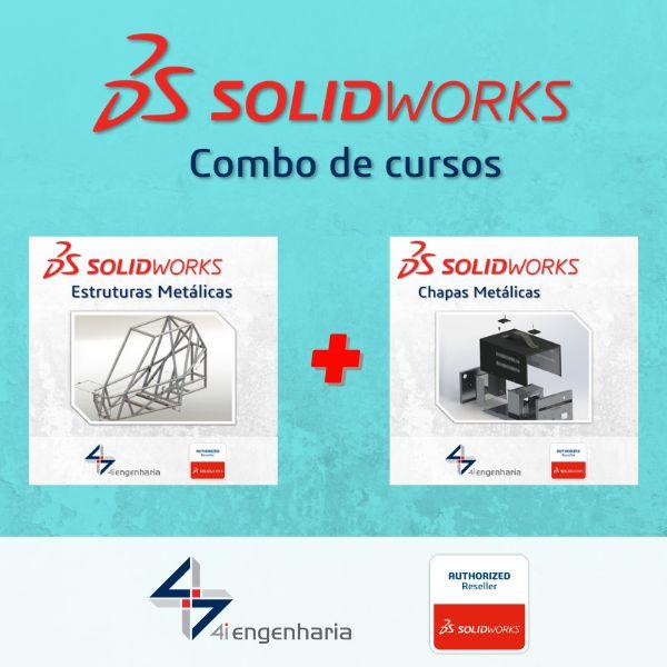 Imagem principal do produto Cursos SOLIDWORKS Estruturas Metálicas e SOLIDWORKS Chapas Metálicas