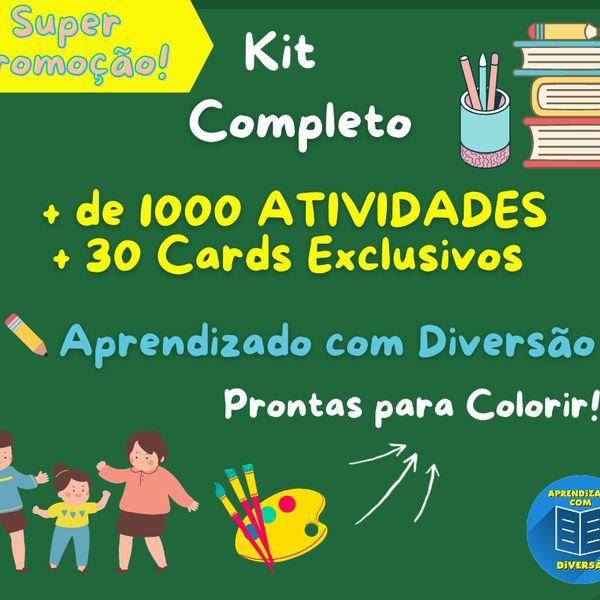 Imagem principal do produto KIT: Atividades de Alfabetização (Vol. 1 e Vol. 2) são + de 1000 Atividades!