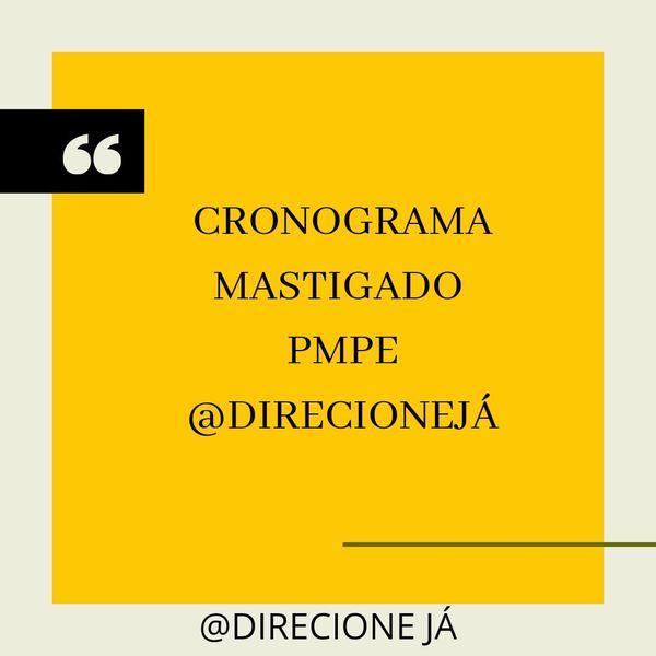 Imagem principal do produto CRONOGRAMA MASTIGADO - CONCURSO PMPE