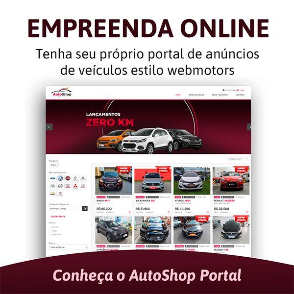 Imagem principal do produto Autoshop Template para Lojas de Veículos