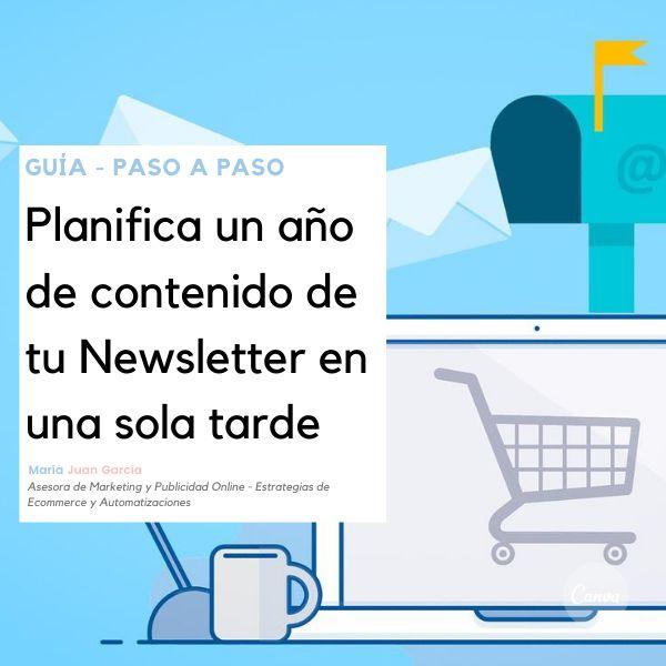 Imagem principal do produto GUÍA - PASO A PASO Planifica un año de contenido de tu Newsletter en una sóla tarde