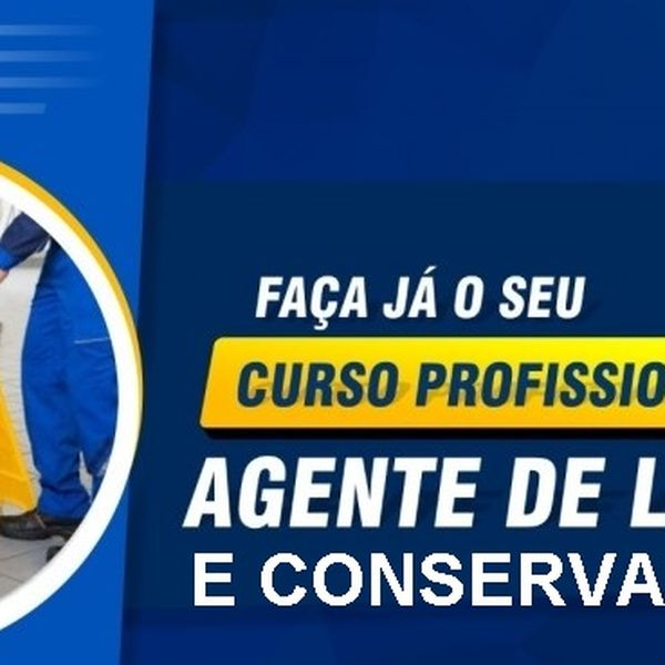 Imagem principal do produto Curso Profissionalizante Agente de Limpeza e Conservação