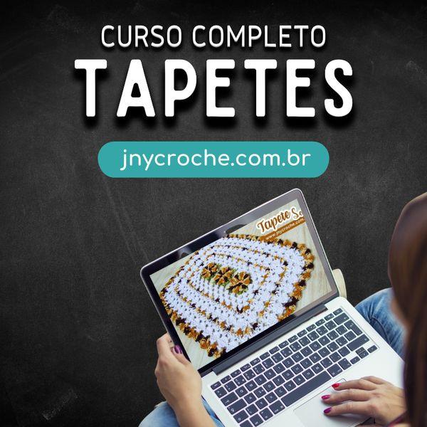 Imagem principal do produto CURSO COMPLETO TAPETES DE CROCHÊ