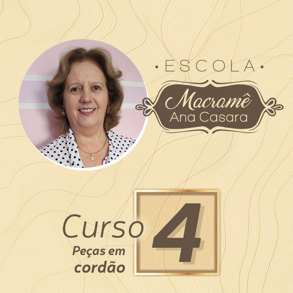 Imagem principal do produto Escola de macramê - Curso 4 - Cordão