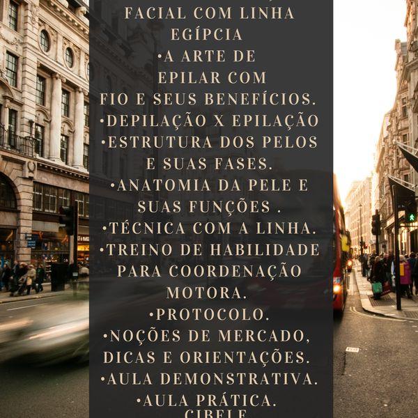 Imagem principal do produto Curso epilação linha egípcia facial