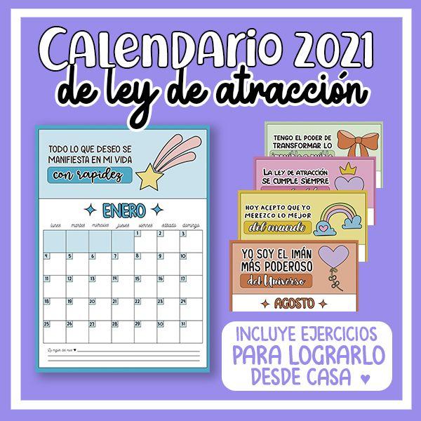 Imagem principal do produto Calendario 2021 de ley de atracción ♥