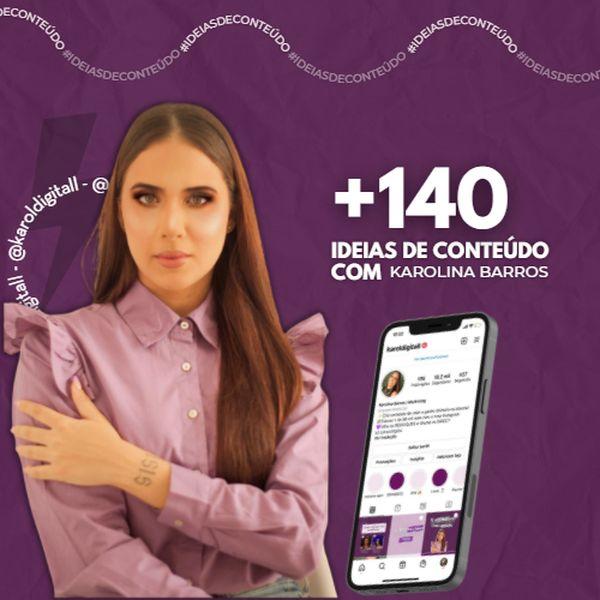 Imagem principal do produto 140 IDEIAS DE CONTEÚDO COM A @KAROLDIGITALL