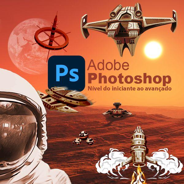 Imagem principal do produto Aulas de Photoshop (Básico ao avançado)