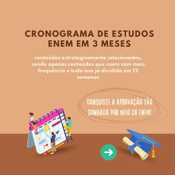 Imagem principal do produto CRONOGRAMA DE ESTUDOS ENEM - para 3 meses