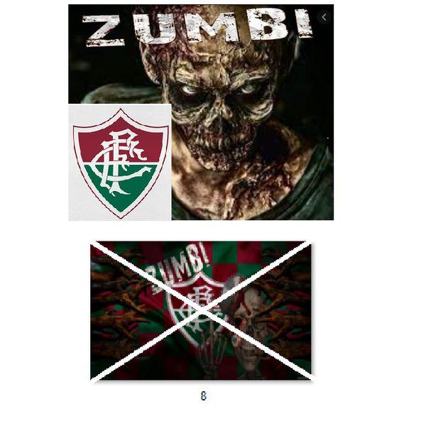 Imagem principal do produto Fluminense zumbi foto para estampar camisetas 8