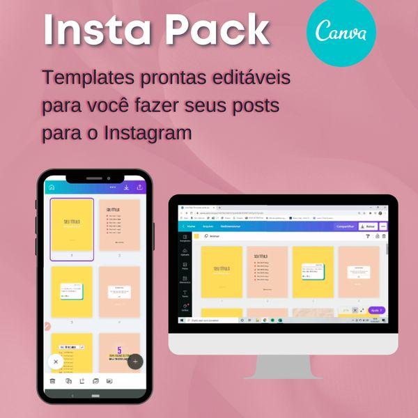 Imagem principal do produto Insta Pack Canva - templates para o seu feed