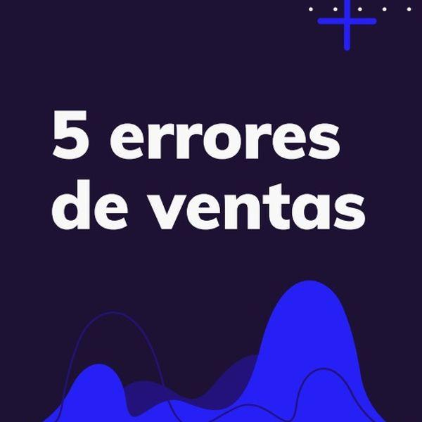 Imagem principal do produto 5 errores de ventas... 5 soluciones efectivas