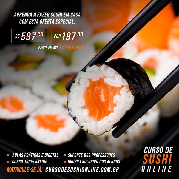 Imagem principal do produto Aprenda a fazer sushi em 7 dias!