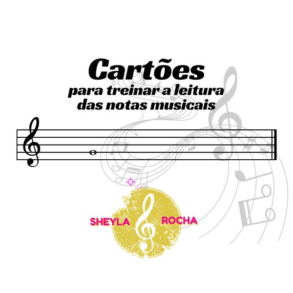 Imagem principal do produto Cartões para treinar a leitura das notas musicais