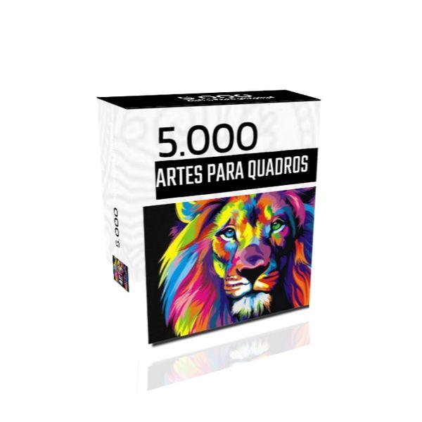 Imagem principal do produto 5.000 ARTES PARA CRIAR QUADROS DECORATIVOS EM POUCOS MINUTOS + BÔNUS ESPECIAIS