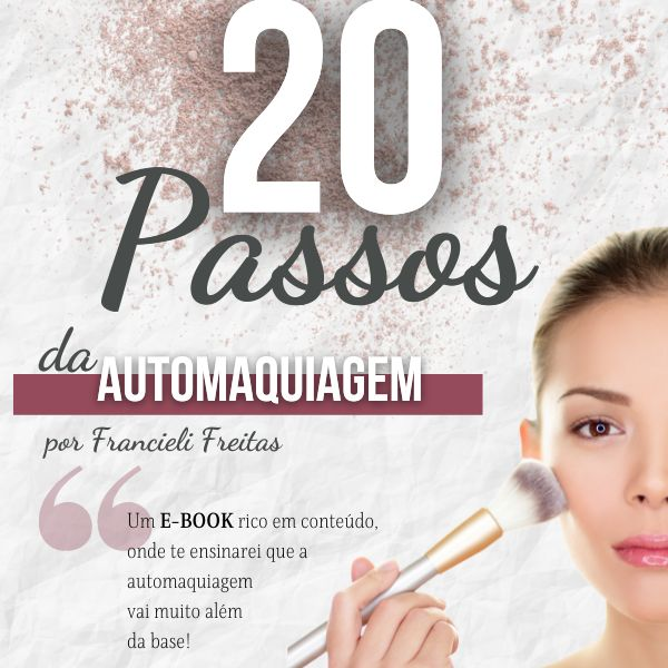 Imagem principal do produto E-book 20 Passos da Automaquiagem