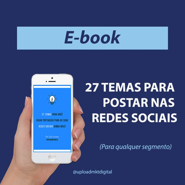 Imagem principal do produto E-book 27 Temas para as redes sociais