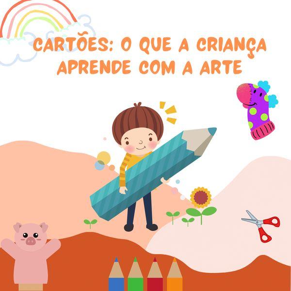 Imagem principal do produto Cartões: O que a criança aprende com a arte