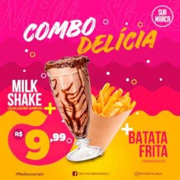 Imagem principal do produto +65 Artes Açai, Pizza, Lanche  Editaveis No Celular (canva)