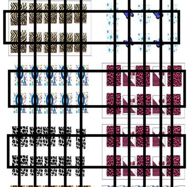 Imagem principal do produto ADESIVOS DE UNHAS - CARTELA MOLDE PARA IMPRIMIR - CARTELA 39
