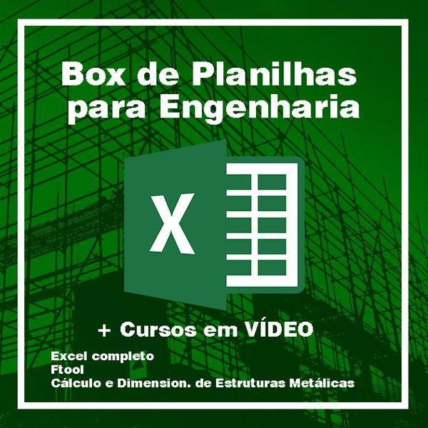Imagem principal do produto Box de Planilhas para Engenharia + Cursos