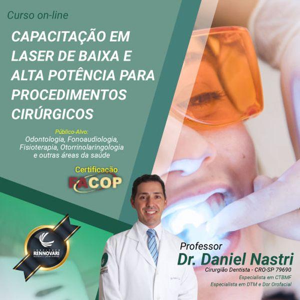 Imagem principal do produto Curso de Capacitação em Laser de baixa e alta potência para procedimentos cirúrgicos