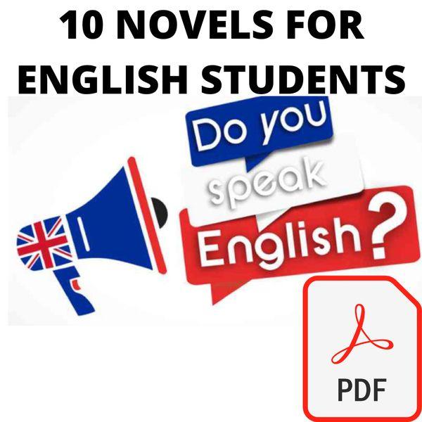 Imagem principal do produto  10 PDF Novels For English Learners (Basic-Intermediate)