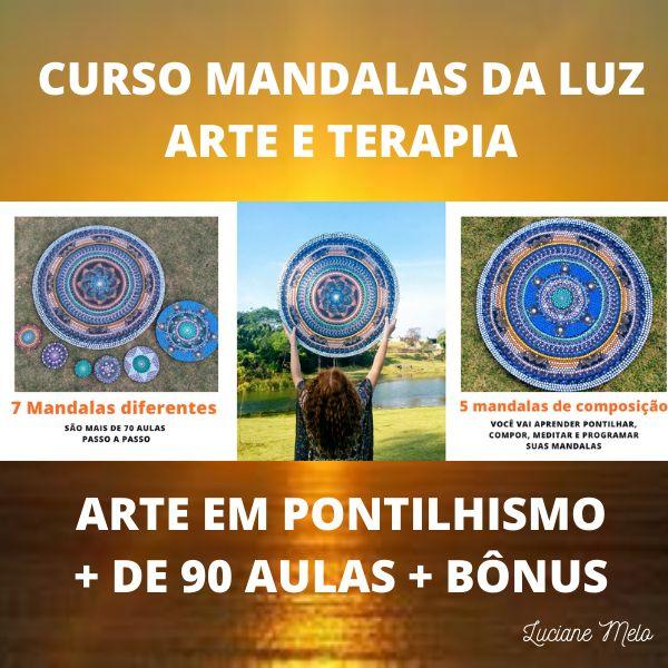 Imagem principal do produto Clube das mandalas - Curso mandalas da Luz - Arte e Terapia