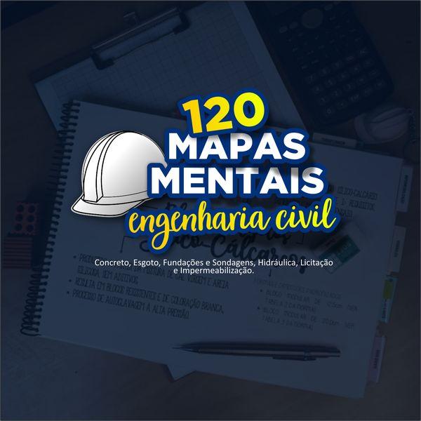 Imagem principal do produto 120 Mapas Mentais de Engenharia Civil
